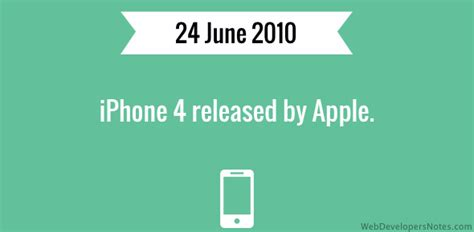 when was the iphone 4 released iphone 4 released