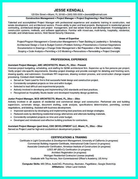 Project Administrator Resume by Cool Construction Project Manager Resume To Get Applied