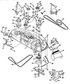 craftsman lawn mower deck belt diagram car interior design