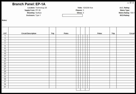 On panels of this vintage you may need to look not at the paper label on the fpe panel door, but rather on the panel face or cover itself for the. Electrical Panel Schedule Template Lovely Customize Revit Electrical Panel Schedule Template in ...