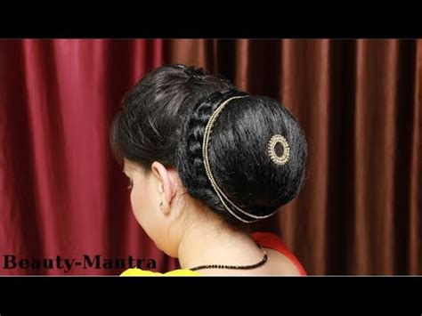 how to make a hair style hairstyle how to do a simple indian jura bun 3491