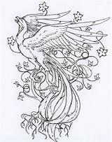 Phoenix Drawing Line Deviantart Bird Drawings Wip Coloring Pages Tattoo Japanese Pheonix Fenix Phenix Tatouage Pencil Tattoos Dessins Magical Sheets sketch template