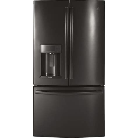 ge profile  cu ft french door refrigerator  ice maker black stainless energy star
