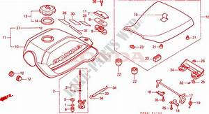 Fuel Tank  Seat For Honda Atc 250 Big Red 1986   Honda