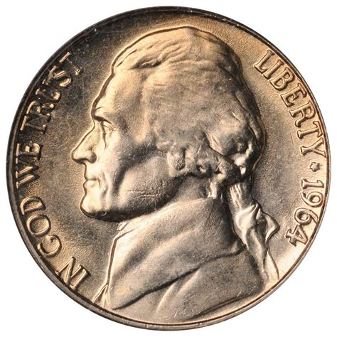 1964 nickel value 1964 d jefferson nickel sell auction modern coins