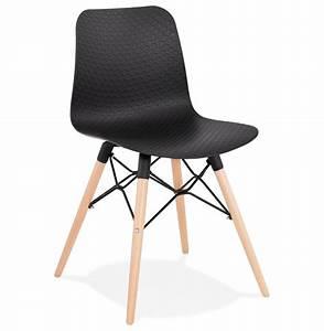 Chaise Noire Design : chaise scandinave tonic noire chaise design ~ Teatrodelosmanantiales.com Idées de Décoration
