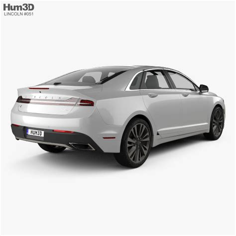 2017 Lincoln Mkz Dimensions by Lincoln Mkz Reserve 2017 3d Model Hum3d