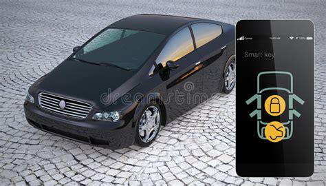 unlock car door with phone car door lock and unlock by smart phone stock