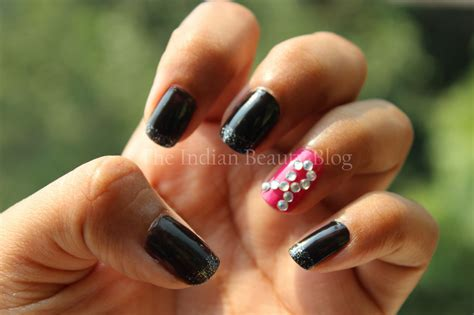 October Breast Cancer Awareness Nail Art- The Indian