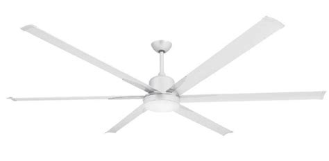 84 Inch Titan Pure White Extra Large Ceiling Fan By Troposair