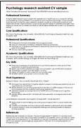 Psychology Research Assistant CV Sample MyperfectCV Criminal Justice Resume Resume Exampl Psychology Resume Examples Resume Sample For Student Resume Sample For Student Resume Templates School Psychologist Resume Samples VisualCV Resume Samples Database