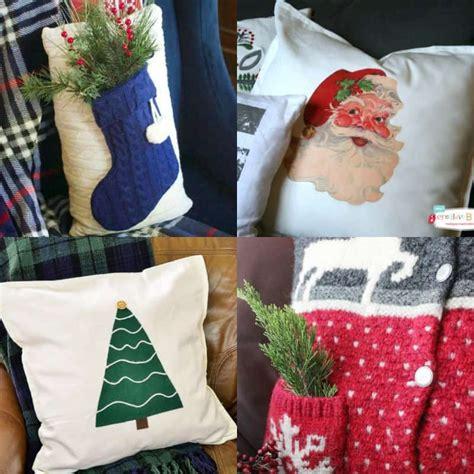 easy diy holiday pillows    christmas