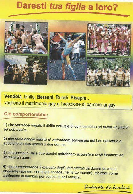 Volantino Choc In Provincia Di Siena Contro Le Adozioni