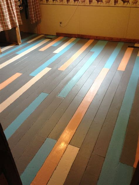 painted wood floors this is a idea different colors though for the 39 rooms