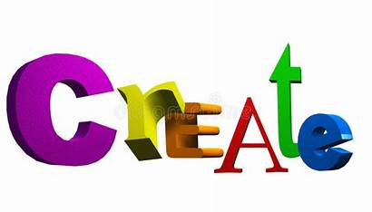 Create Text Word 3d Dreamstime Royalty Illustration