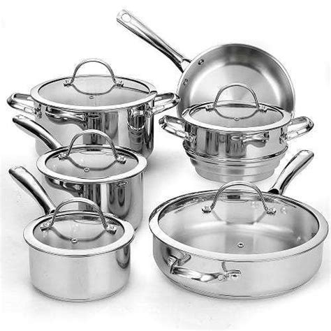 top   stainless steel cookware set  reviews toprec
