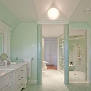 1001 idees decoration vert menthe fraicheur et legerete for Salle de bain design avec décoration mariage vert menthe
