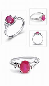 150 Carat Ruby Gemstone Engagement Ring On Silver