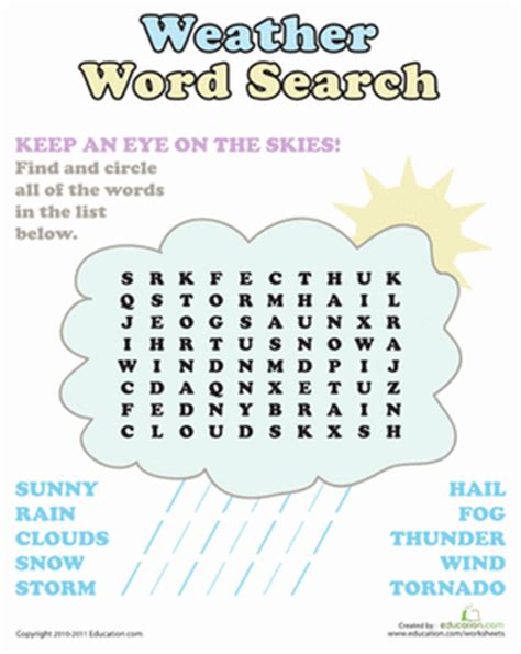 weather word search puzzle science words word search