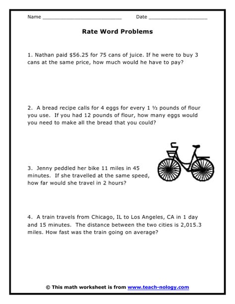 rate word problems