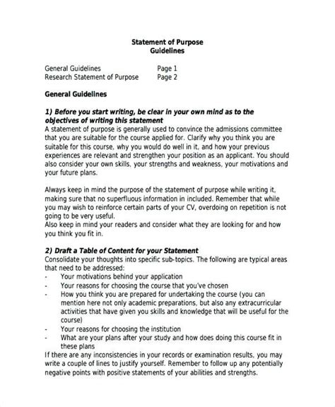 Cv Form Sle For by Research Statement Of Purpose Sop Writing Format Sle Sop