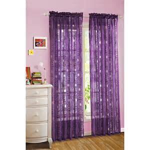 your zone floral burst sheer curtain plum crazy decor walmart com