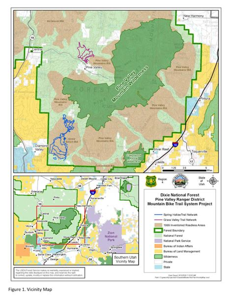 Dixie National Forest Pine Valley Map