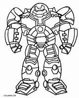 Coloring Buster Hulkbuster sketch template