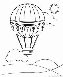 Hot Air Balloon Coloring Page - Coloring Home