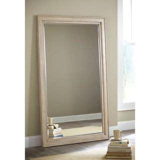 floor mirror overstock signature design by ashley demarlos parchment white floor mirror floor mirrors standing