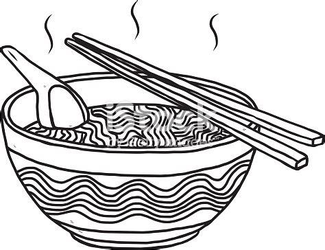 noodles bowl stock vector art  images  black