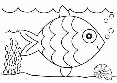 Mewarnai Gambar Laut Binatang Ikan Anak Paud