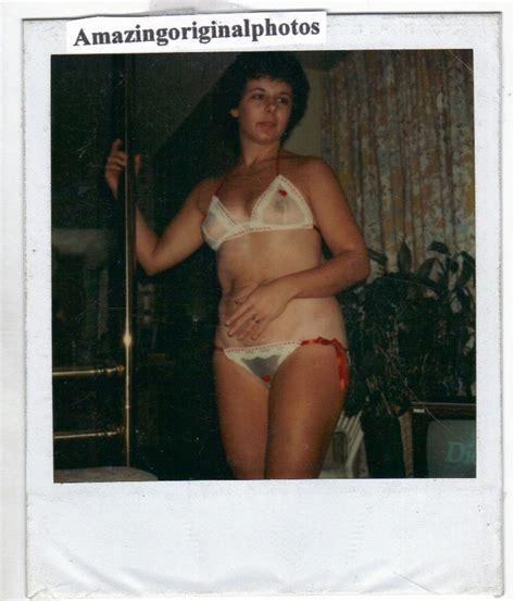 Very Old Vintage Polaroid Found Photo Estate Nude Naked