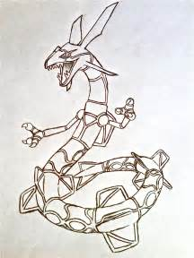Primal Rayquaza Pokemon Coloring Pages