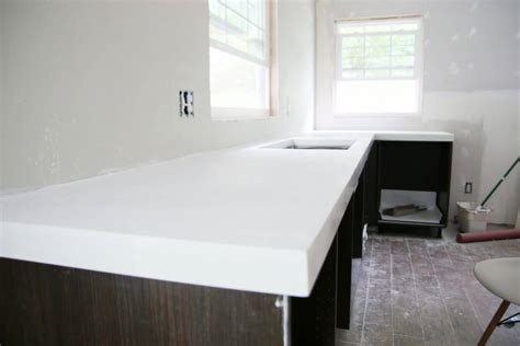 white concrete countertop diy white concrete countertops chris