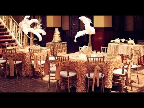 Great Gatsby Wedding Decor YouTube