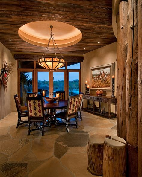 traditional southwest territorial southwestern dining room other metro by design
