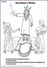 Solomon Wisdom King Bible Asks Coloring Sunday Activities Kings Crafts Preschool Salomon Lessons Biblewise Temple Worksheets Maze Built Catholic sketch template