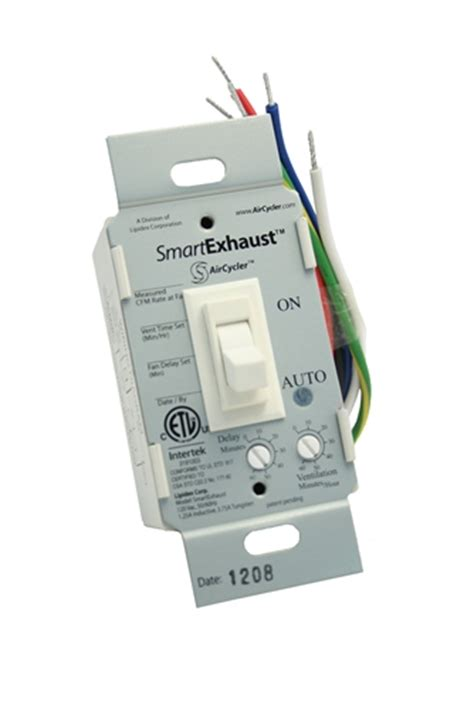 exhaust fan timer switch smartexhaust ventilation control timer and light switch