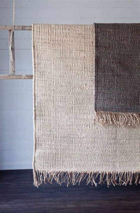 tapis toile de chanvre blanc bleached