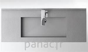 plan vasque en resine sur mesure With plan de vasque salle de bain sur mesure