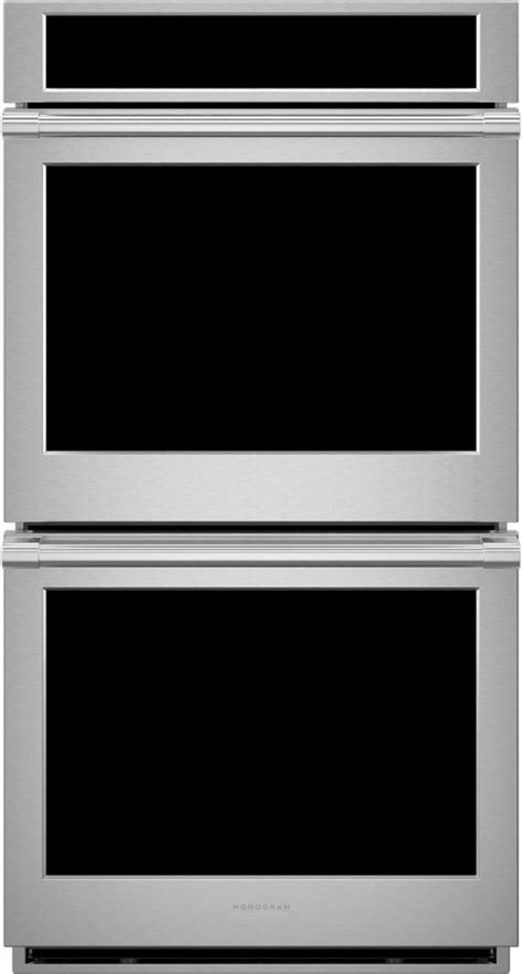 monogram statement  stainless steel electric built  double wall oven zkddpsnss