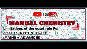 Exception Of Octet Rule For Class 11  Neet  Iit Jee Mains