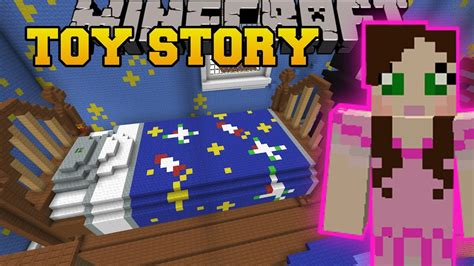 minecraft andys room toy story custom map  youtube