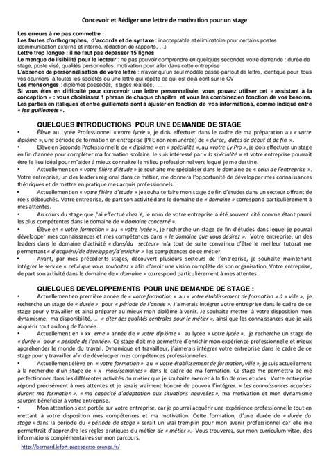 modele de lettre de demande de promotion interne lettre de motivation poste interne entreprise