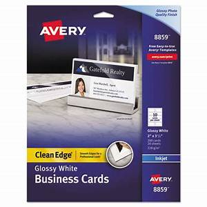 Printer for Avery glossy business cards
