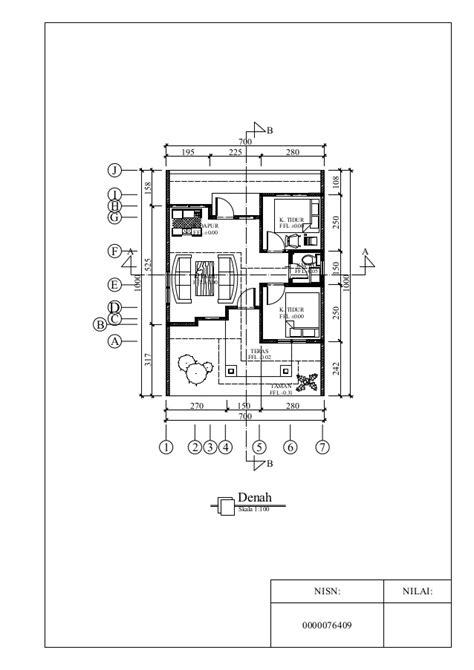 gambar kerja rumah minimalis  lantai lomba autocad skills
