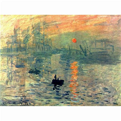 Sunset By Claude Monet Famous Oil Paintings Reproduction