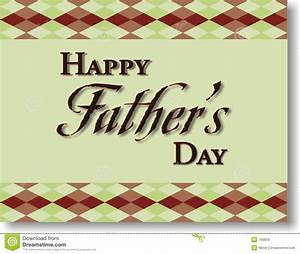 Of Happy Father S Day With A Green Background And Plaid ...