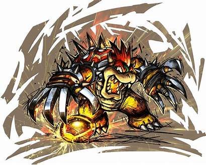 Mario Bowser Strikers Charged Super Team Artwork